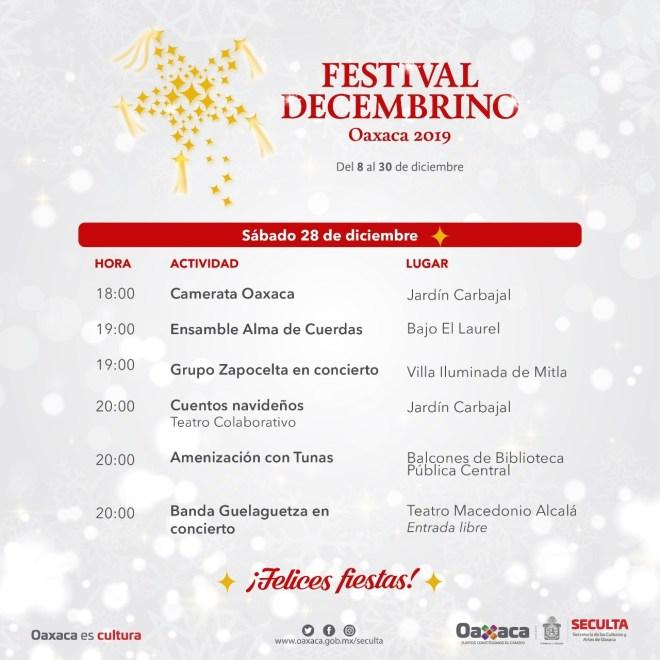 Informa Seculta los eventos culturales de este sábado y domingo en Oaxaca
