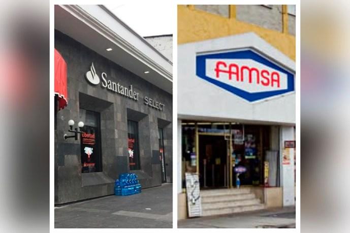 Famsa Promobien y Santander hacen cobros domiciliados