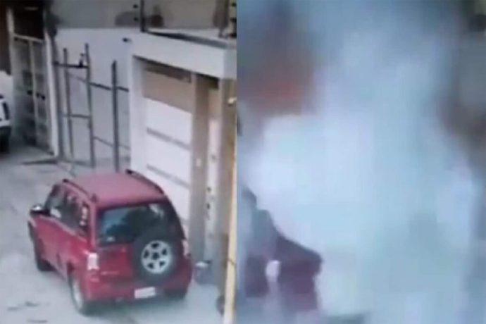 Paquete con explosivos detona frente a vivienda en Puebla; no se reportan lesionados