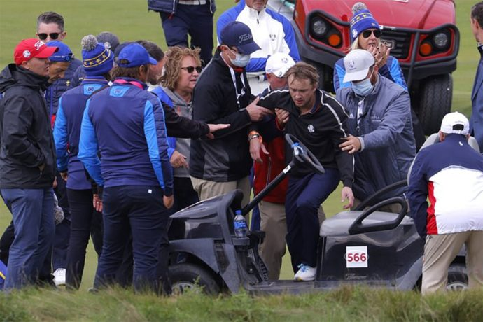 Tom Felton, Draco Malfoy en Harry Potter, se desmayó durante un partido de golf de celebridades antes de la Ryder Cup