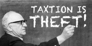 Murray Rothbard, meme, taxation is theft, awesome memes, libertarian, voluntaryism