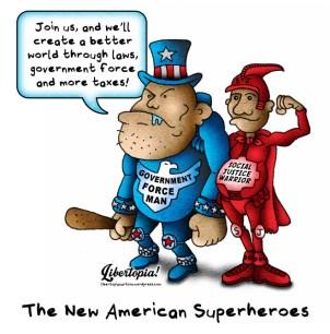 social justice, statist, cartoon, libertarian, statism, social justice warrior, coercion, government force, leftism, progressivism