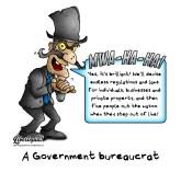 libertarian, political cartoon, government bureaucrat, private property, individual rights