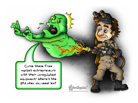 Ghostbusters, libertarian, ancap, voluntaryist, cartoon, who ya gonna call, free market, Statist, Statism, Actual Anarchy