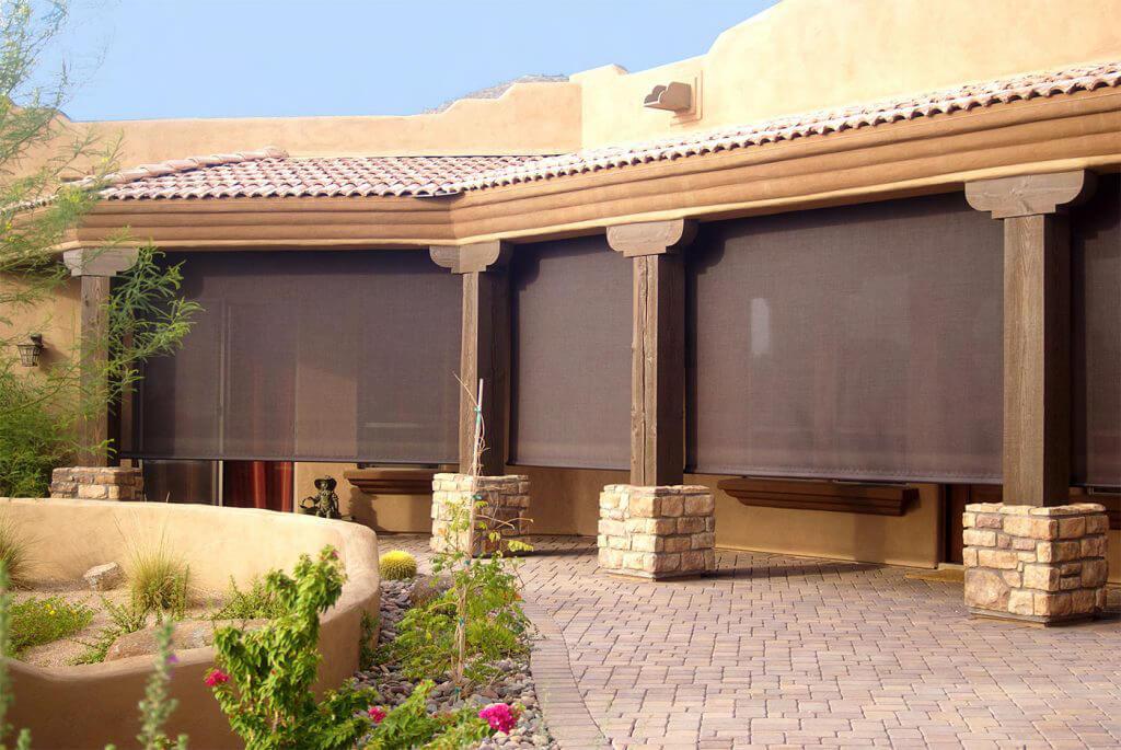 patio sun wind screens awnings