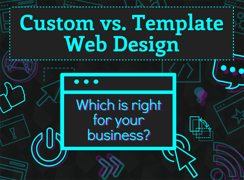 custom vs template web design liberty digital