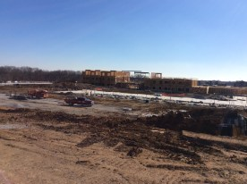 Structures can now be seen from HWY 251 for the new Liberty at Shoal Creek devlopement