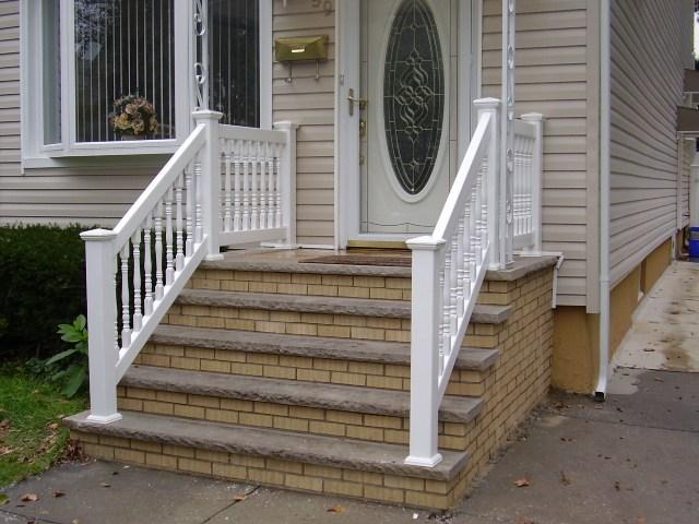 Outdoor Pvc Vinyl Railings Handrails Liberty Fence Railing | Handicap Rails For Steps | Grab Rail | Deck | Porch Railing | Bed Rails | Activated Led