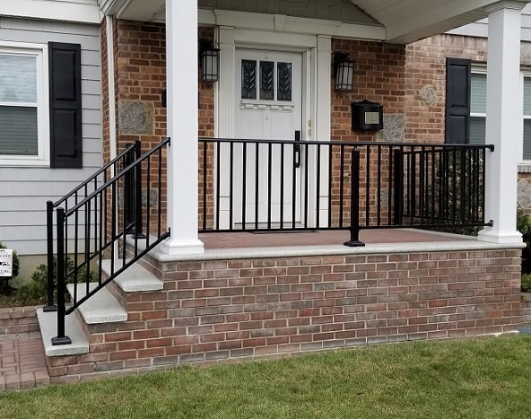Outdoor Aluminum Railings Handrails Liberty Fence Railing   Outdoor Handrails For Concrete Steps   Contemporary   Hand Rail   Precast   Stair   Water Pipe