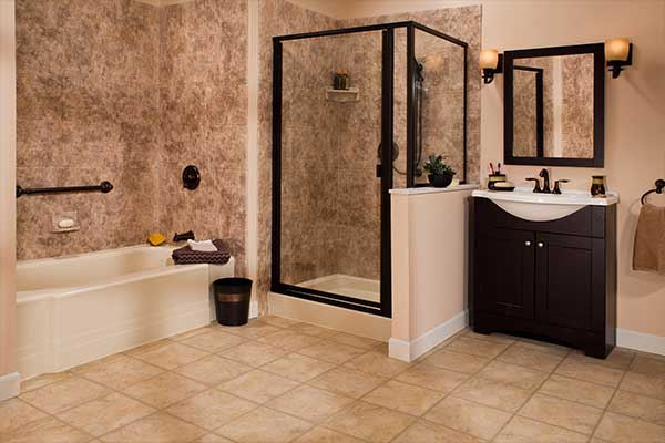8x10 Acrylic Bathroom Walls Liberty Home Solutions LLC
