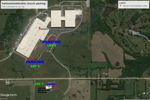 hallmark and methodist church parking 2