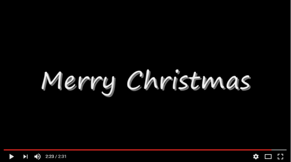Screen capture - YouTube 'Christmas for Cowboys'