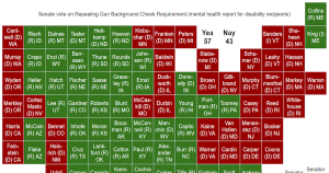 Look How Many Democrats Voted Against Repealing Gun Background Checks of Disability Recipients