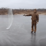 AMAZING PHENOMENON!  You Won't Believe What Happens When You SHOOT ICE! [VIDEO]