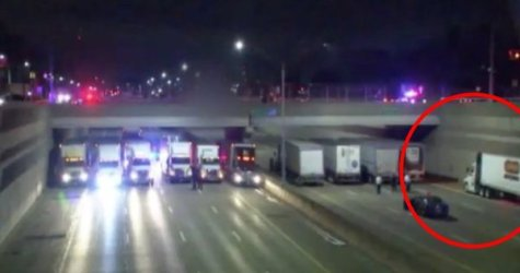 WATCH: 13 Semi-Trucks Save The Day When Man Is Contemplating Suicide