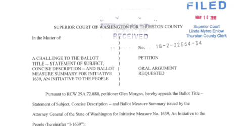 Ballot Title Challenges Filed v. WA Gun Control Initiative