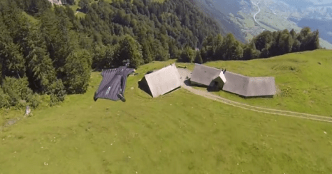 Is He Gliding Or Falling? Extreme Athlete Defies Gravity