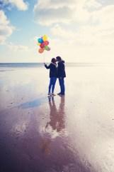 Devon beach pre wedding shoot Dawlish Warren engagement