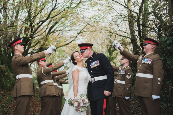 Trevenna Barns Cornwall military rustic winter wedding 115