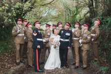 Trevenna Barns Cornwall military rustic winter wedding 117