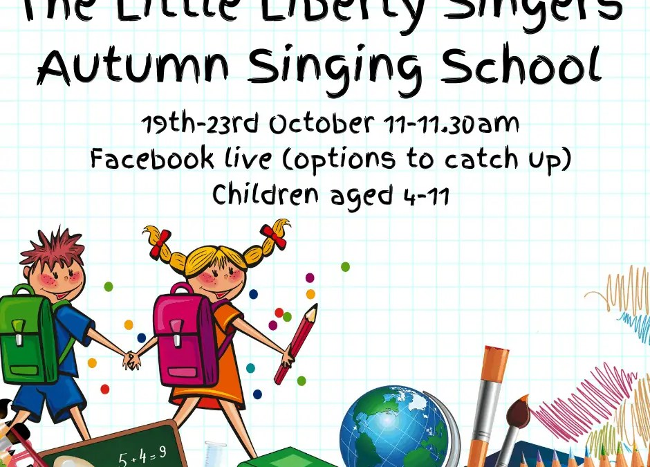 The Little Liberty Singers have a million dreams keeping them awake!