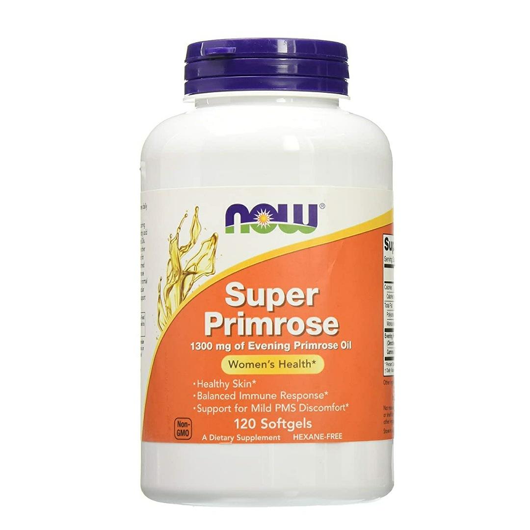 Now Foods Super Primrose 1300mg, 120 gels