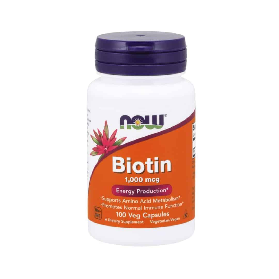 Now Foods Biotin 1000 mcg Veg Capsules