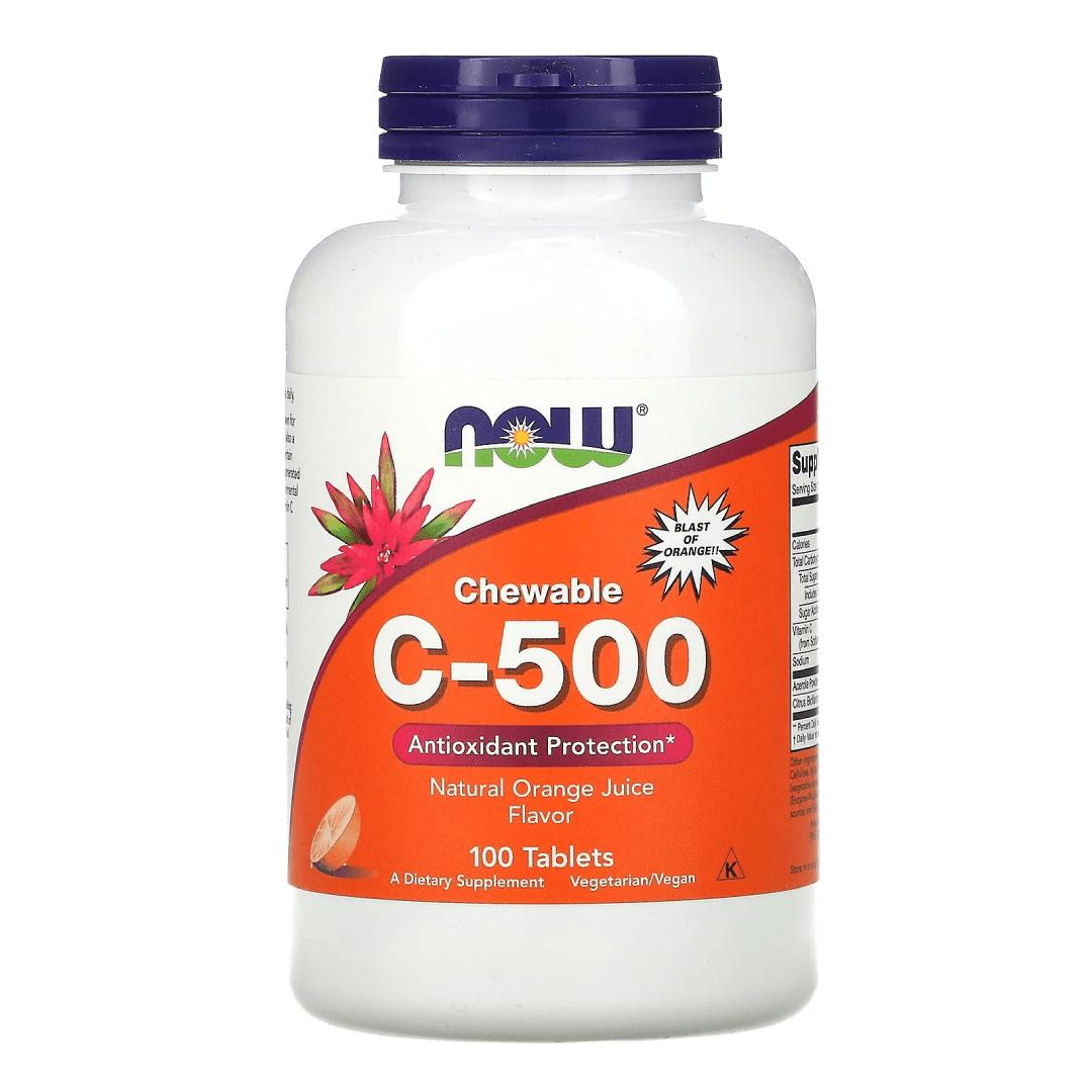 Now Foods Chewable C-500 Orange Juice Flavor