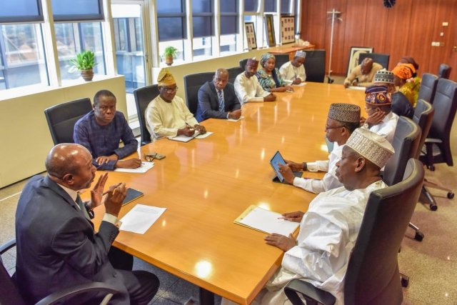 Governor of Central Bank of Nigeria, Godwin Emefiele In A meeting With Some State Governors