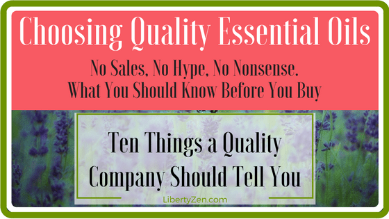 What Should An Essential Oils Company Provide?