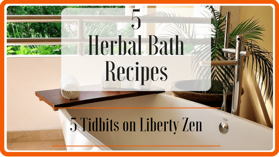 5 Herbal Bath Blends