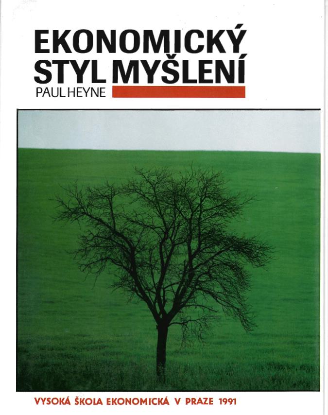 Book Cover: Hayne, P. (1973) Ekonomický styl myšlení