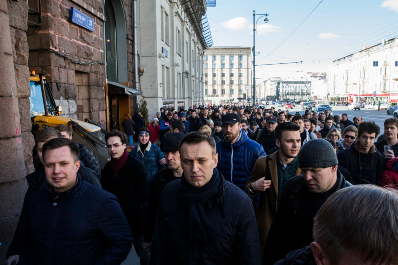 Alexej Nawalny 26. März 2017 in der Twerskaja Ul., Moskau