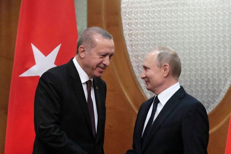 Erdogan, Putin 2019 Foto: Shutterstock, Alex Gakos