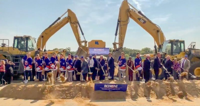 Officials mark groundbreaking for Belmont arena project