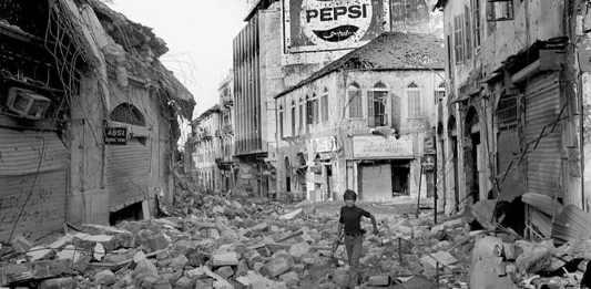 Le Centre Ville de Beyrouth détruit lors de la Guerre Civile. Crédit Photo DR