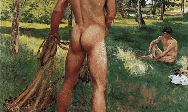 """Figure 1 : """" Le pêcheur à l'épervier """" Fréderic BAZILLE - 1868"""