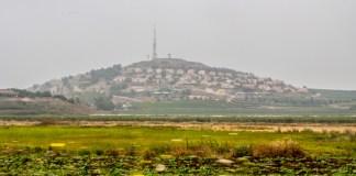 Une colonie israélienne située à proximité de la ligne bleu, ligne de démarcation entre le Liban et Israël. Crédit Photo: Libnanews.com