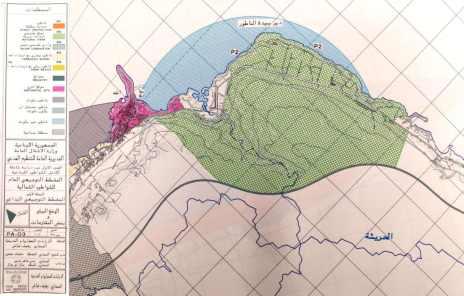 Extrait du Schéma Directeur des plages Nord (1998) – Planche PA-03 : Le site de Deir El Natour est classé en zone P2 – protection relative (en vert)