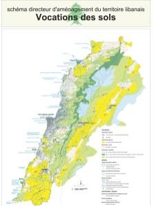 Plan de la vocation des sols du SDATL, adjoint au décret 2366/2009