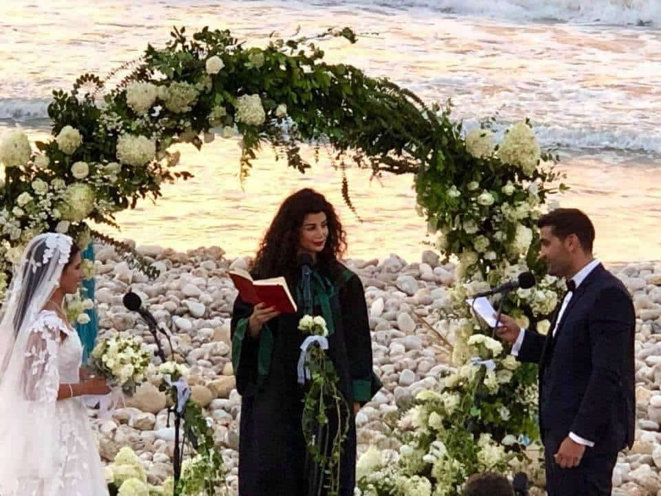 Mariage civil non officiel organisé à Tyr au Sud Liban. Source Photo Facebook