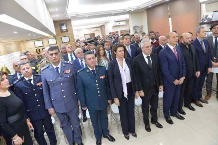 Minister of the Interior Raya Hassan, at a ceremony of homage to the Lebanese civil defense. Photo Credit: Dalati & Nohra