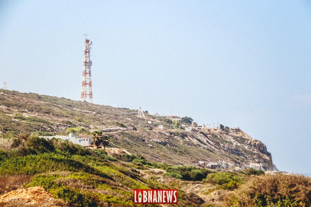 La ligne bleue, ligne de démarcation entre le Liban et Israël, au niveau de Ras Naqoura. Crédit Photo: Francois el Bacha, pour Libnanews.com. Tous droits réservés.
