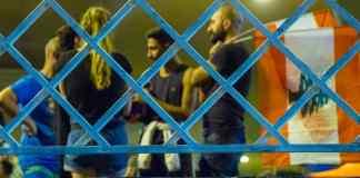 Des manifestants au niveau du barrage de Jal el Dib. Crédit Photo: François el Bacha pour libnanews.com. Tous droits réservés.