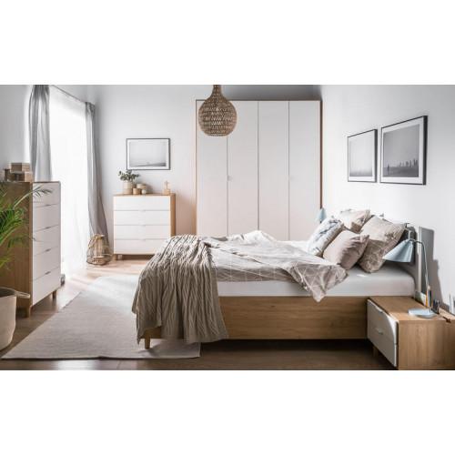 lit double blanc simple avec sommier relevable 160x200 et tete de lit personnalisable