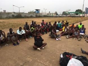 Neal's donations arrive in Liberia (Photo courtesy of Maya Neal).