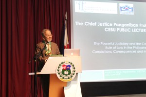 Response of Chief Justice Panganiban to USC Dean Largo's Lecture