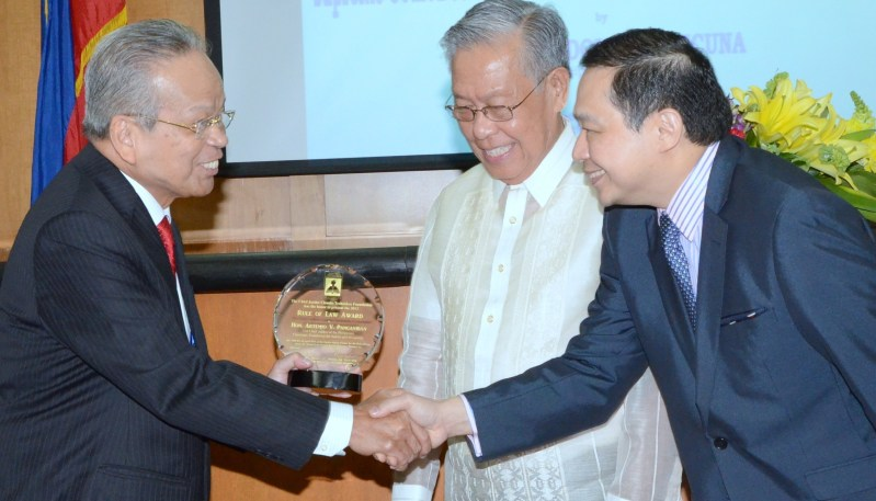 CJ Panganiban Awarded by the Teehankee Center For The Rule of Law