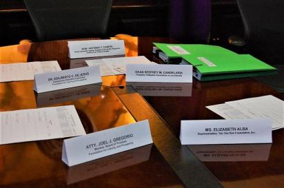 Place cards for the Legal Scholarship Program Board of Judges SY 2017-2018