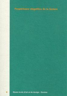Jean-Pierre Ferrini - L'expérience singulière de la lecture - HEAD